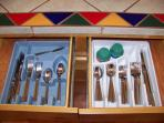 DOUBLE SETS OF SILVERWARE
