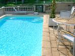 Enjoy the pool while staying at the chateau.