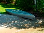 Canoe & rowboat with oars,paddles,& life jackets included
