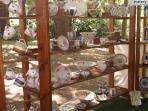 Filberg Arts and Music Festival.  This was my booth.  I am a potter and my studio is right here.
