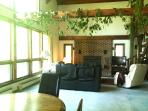 Living room with picture windows