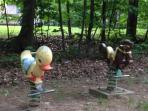 Toddler toys in nearby park.