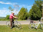 Biking on Duck Lake Peninsula - Three miles around the perimeter