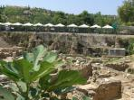 Archaeological sites begin a minute's walk away