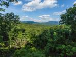 Beautiful mountain top views from the private master deck