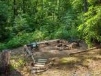 Fire pit area on the property