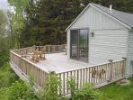 large wrap-around deck