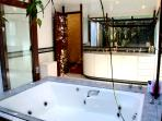 Jacuzzi and winter garden inside the bathroom