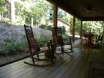Enjoy the outdoors in the rocking chairs