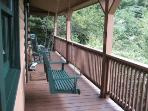 Unwind on the covered porch
