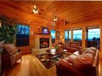 Emerald City Lights #203- Living Room with Fireplace & TV