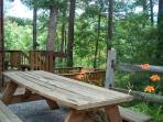 Woodhaven #1741- Outside Bench At the Cabin