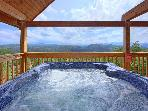 A Smokin' View #1844- Hot Tub With A Mountain View