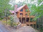 Walnut Hills - Private log home with creek!