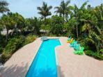 An amazing pool with sea views beyond
