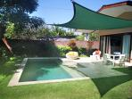 Nice 3 x 7m pool with shaded garden
