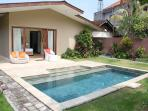 Garden with nice pool