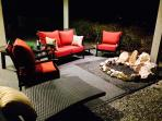 Outdoor Patio Seating and Fireplace