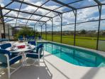 Lots of space for dining by the pool
