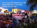Enjoy live music and fireworks on Thursday nights (Summer)
