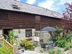 GROOM COTTAGE, character barn conversion in country courtyard setting, en-suite, patio, shared grounds, Bucknell Ref 27590
