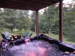 8 PERSON HOT TUB WITH WATERFALL AND CD PLAYER