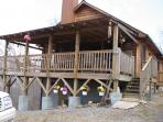 Large covered deck with room to entertain