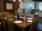 Dinningroom table set just waitting to welcome you to Six Nations House