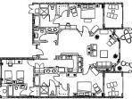 3 BR Floor Plan