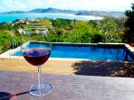 Relax and enjoy a complimentary glass of  wine while watching this spectacular ocean view!