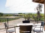Patio with Vineyard Views