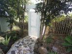 Private entry through the garden