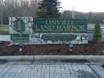 Entrance to community of Land Harbor