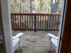 back deck entance overlooking river
