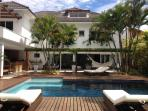 Leisure Area: heated pool with deck