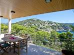 Dining Terrace (accessible from the Living Room & Kitchen) with sea views