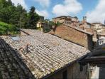 The roofs of Montepulciano from the window