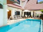 shared swimming pool from residence