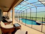 Private Heated Pool/Spa with privacy screen