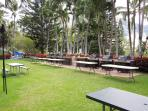 Like to barbeque?? Community BBQ area with 6 gas grills for your use