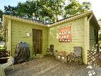 Cool backyard deck and BBQ