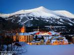 The town of Breck at night