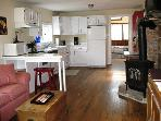 Fully Equipped Kitchen off the Living Room