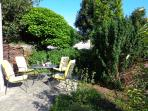 The front garden, a lovely place to relax and sunbathe.