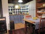 kitchen blue house
