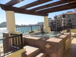 Suite 1501 Terrace View of Medano Beach and Cabo Marina In The Distance