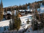 View of the Silver Buck Ski Run just Steps from your Private Ski Locker