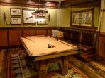 Restored Vintage Slate Pool Table in the Hearth Room