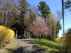 Woodstock Stone Cottage Swim Lake 3 ski resorts fishing hiking biking music arts