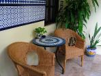 Come relax in our back patio which is also shared by other guests in our guest house.